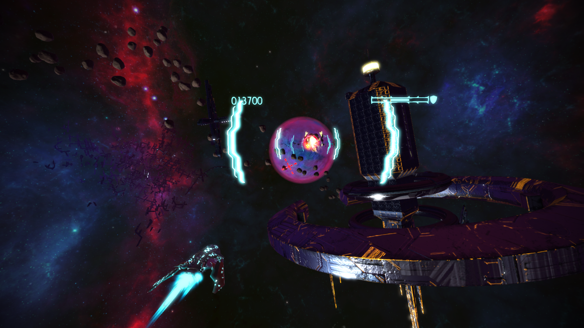 Music driven spaceshooter