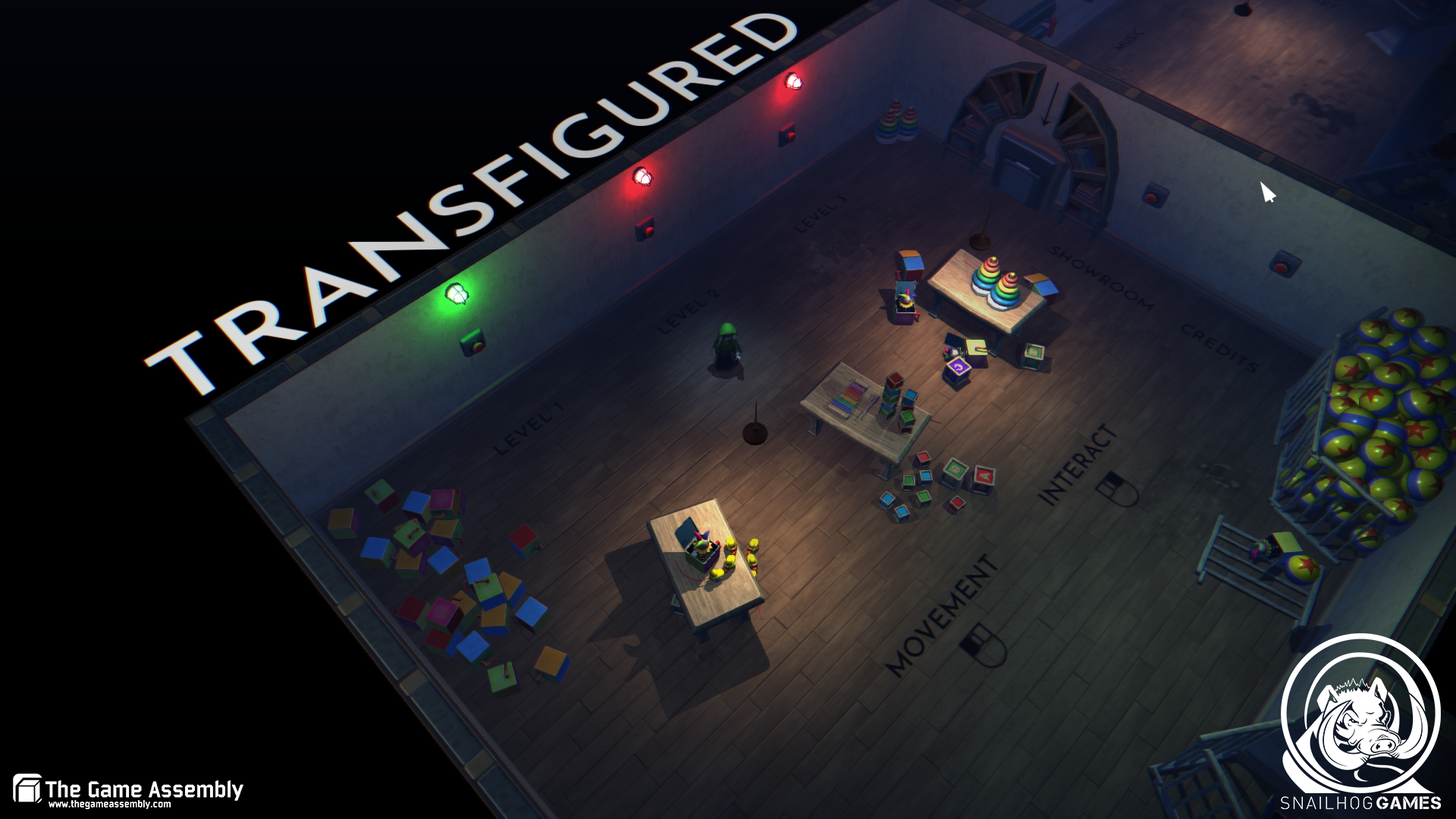 Top down stealth puzzle game